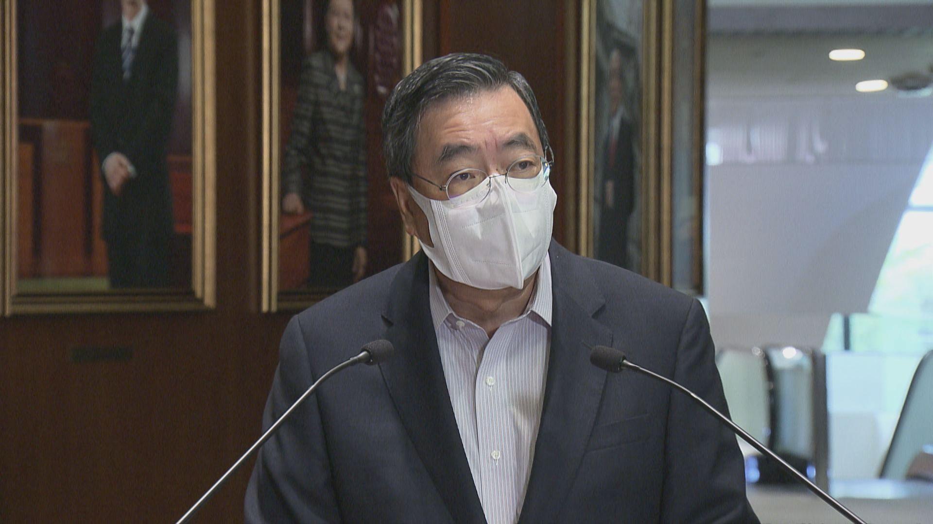 梁君彥︰立法會換屆選舉12月舉行 議員延任至年底