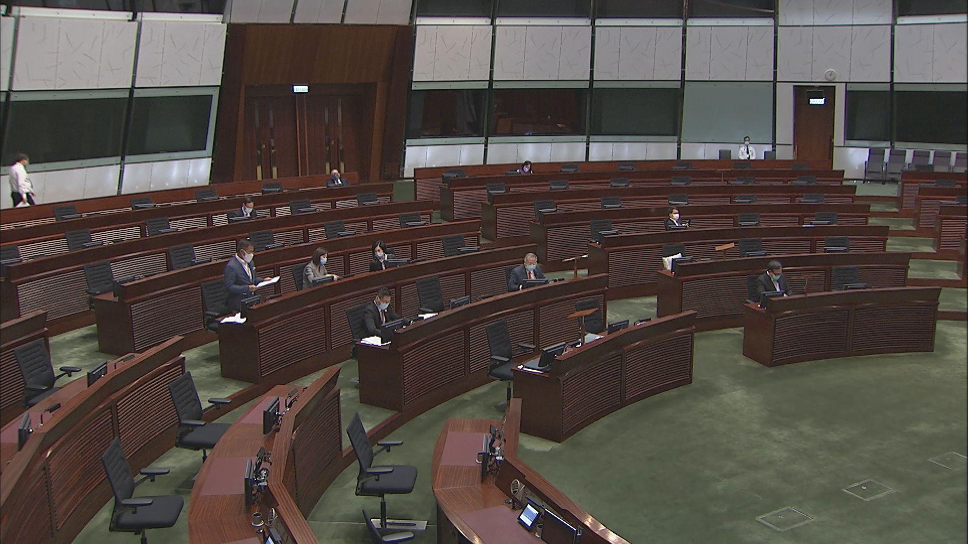 立法會恢復二讀辯論有關修改選舉制度條例草案