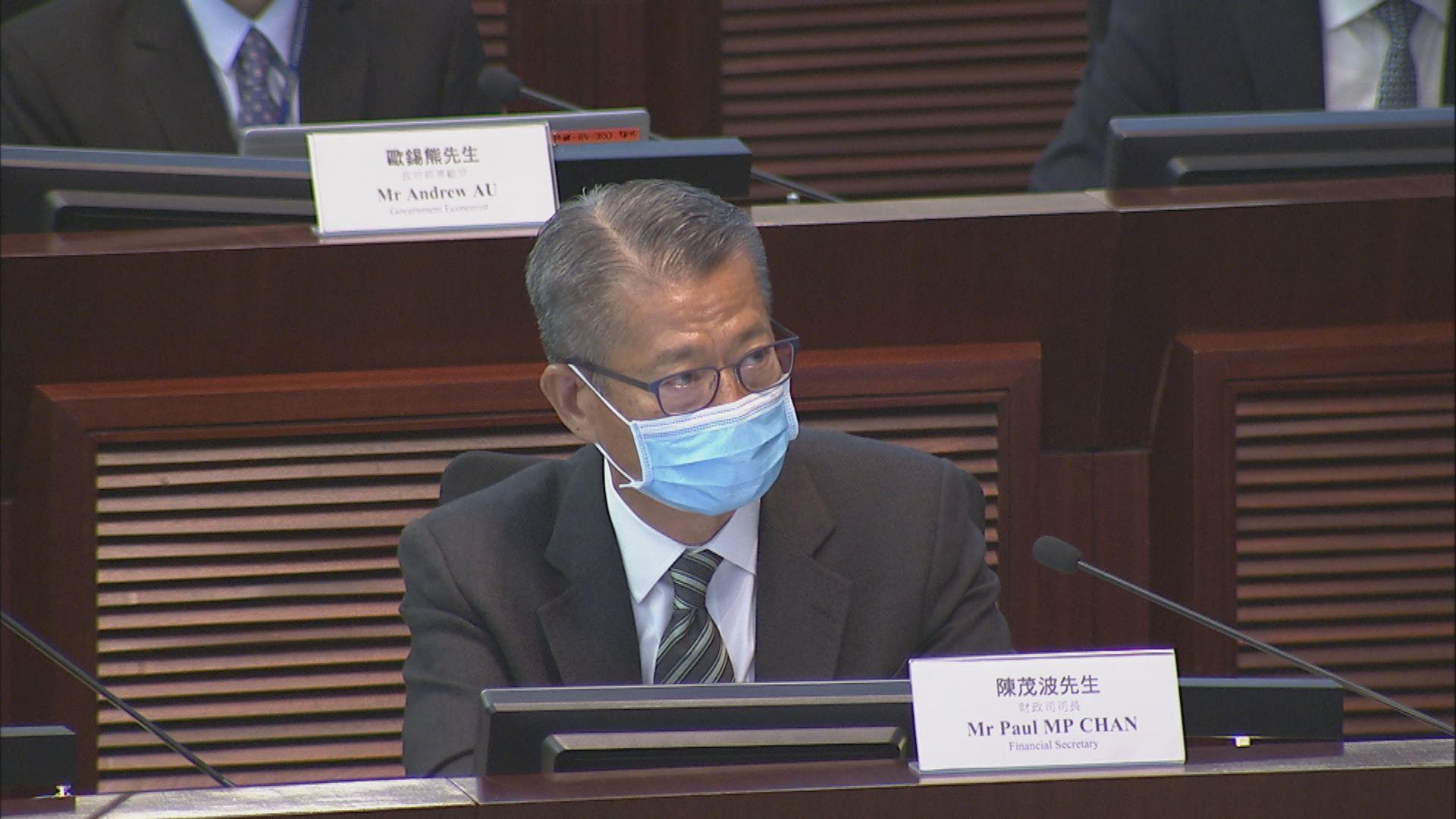 陳茂波:指控許智峯戶口被凍結因部門出錯純粹臆測