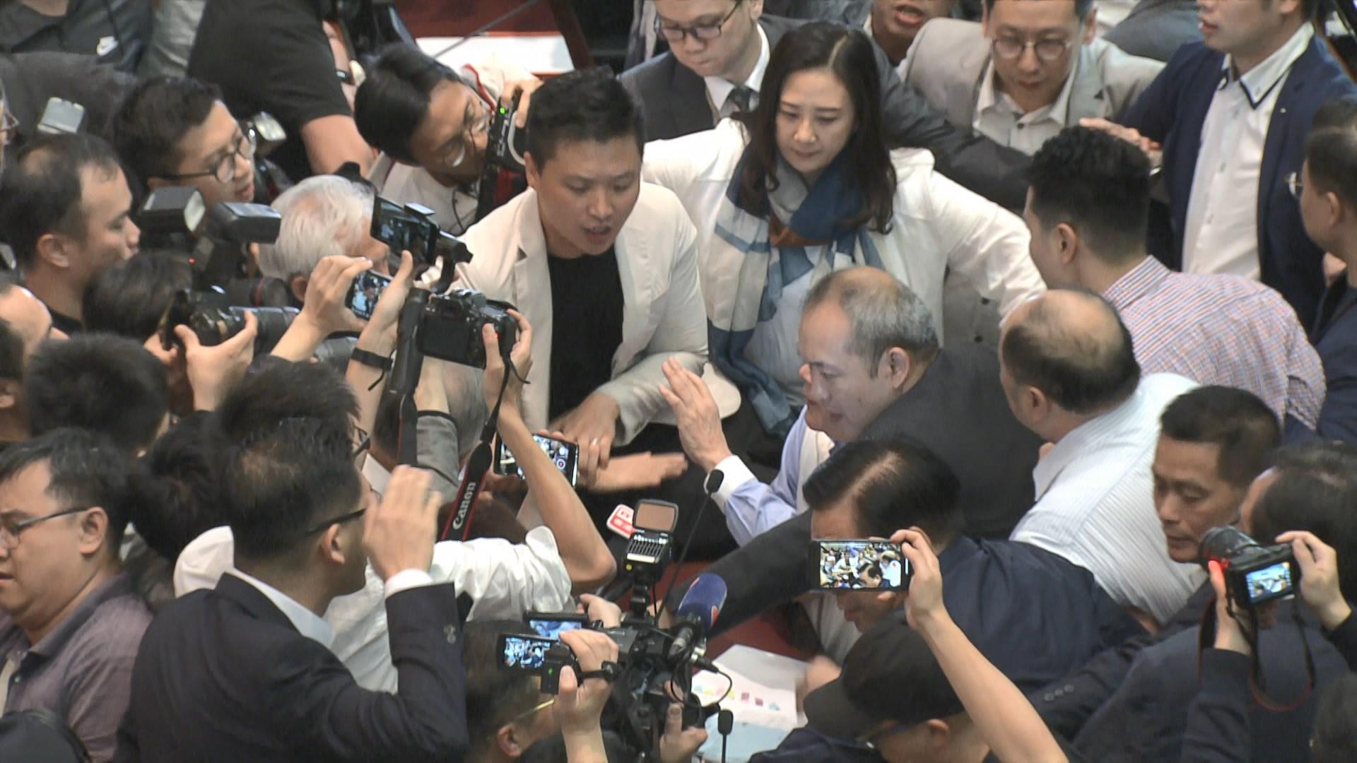 逃犯條例草案委員會混亂中選主席
