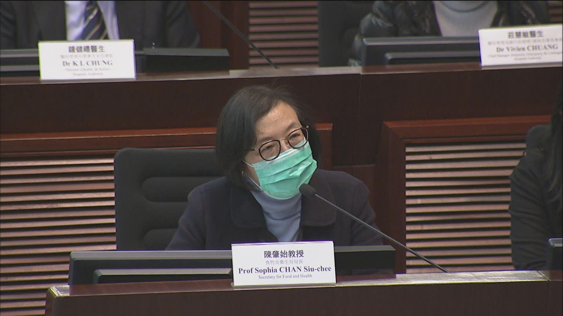 陳肇始:政府庫存一千萬個口罩供各部門使用