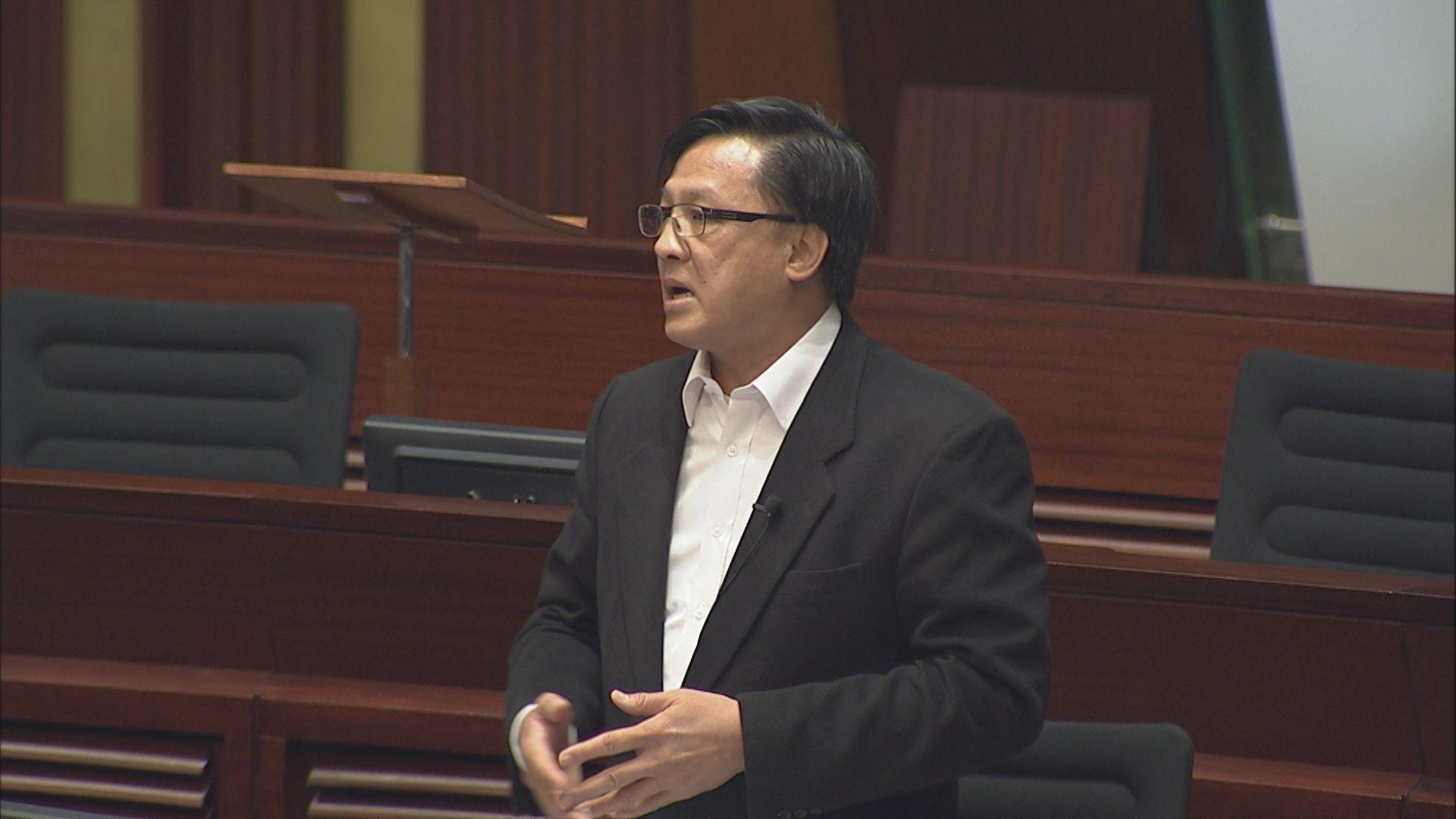 何君堯譴責議案因無人反對 交付內會成立專責委員會