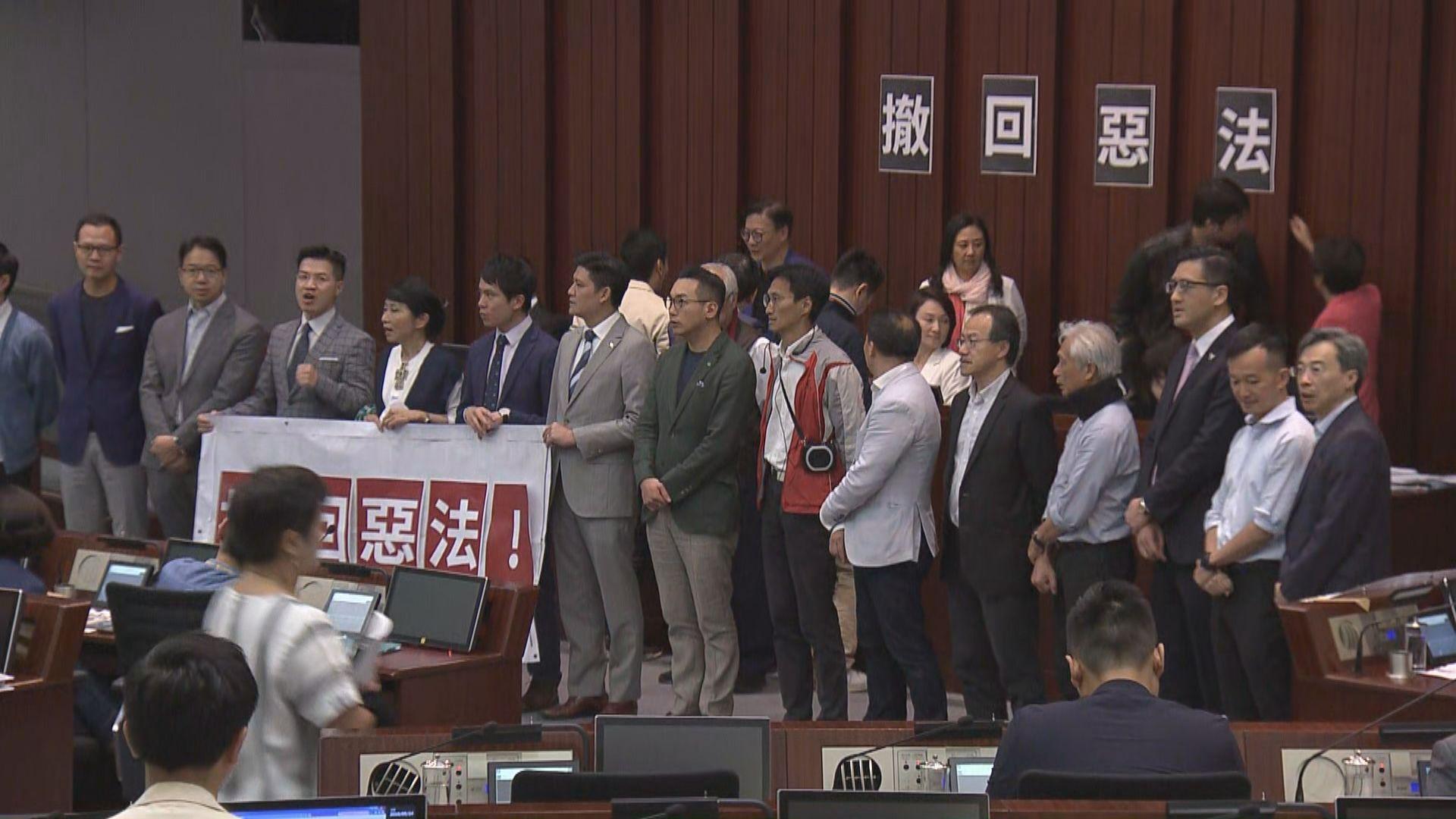 【逃犯條例】內會會議 泛民反對終止法案委員會