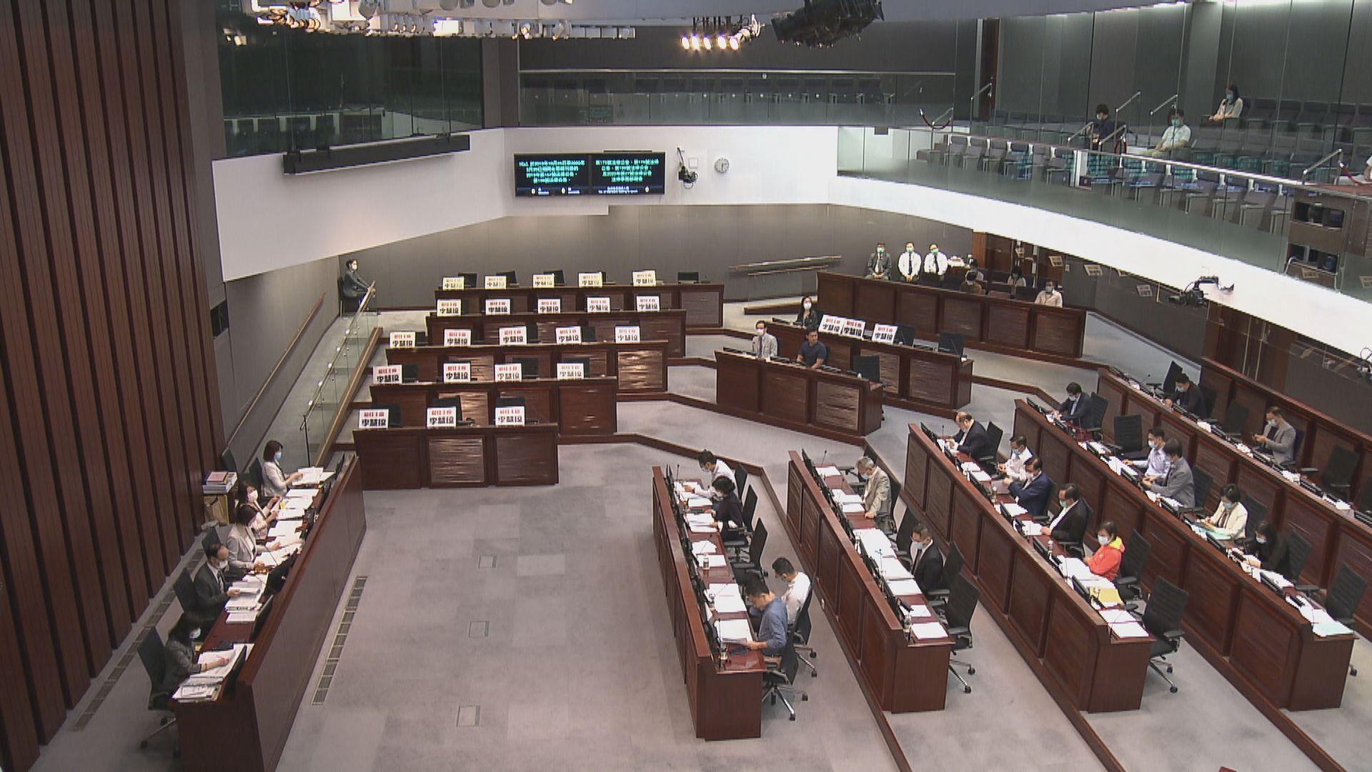 立法會內會開會 無民主派議員出席
