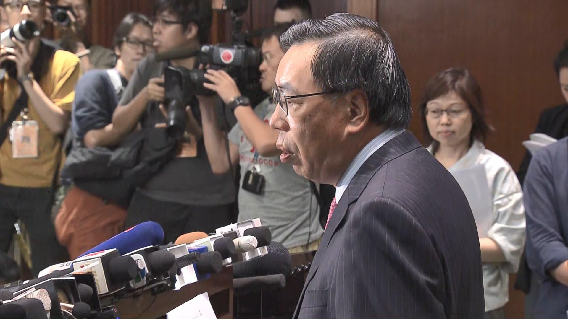 梁君彥倡本立法年度不提恢復二讀國歌法