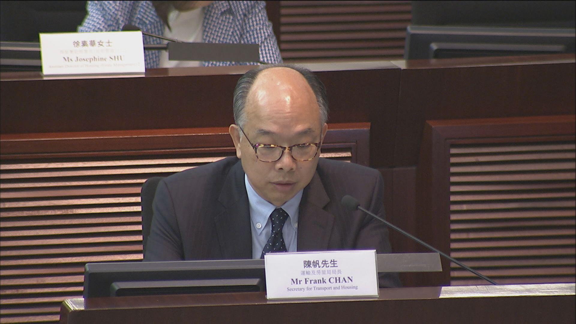 陳帆:房委會拆售物業推租管有困難