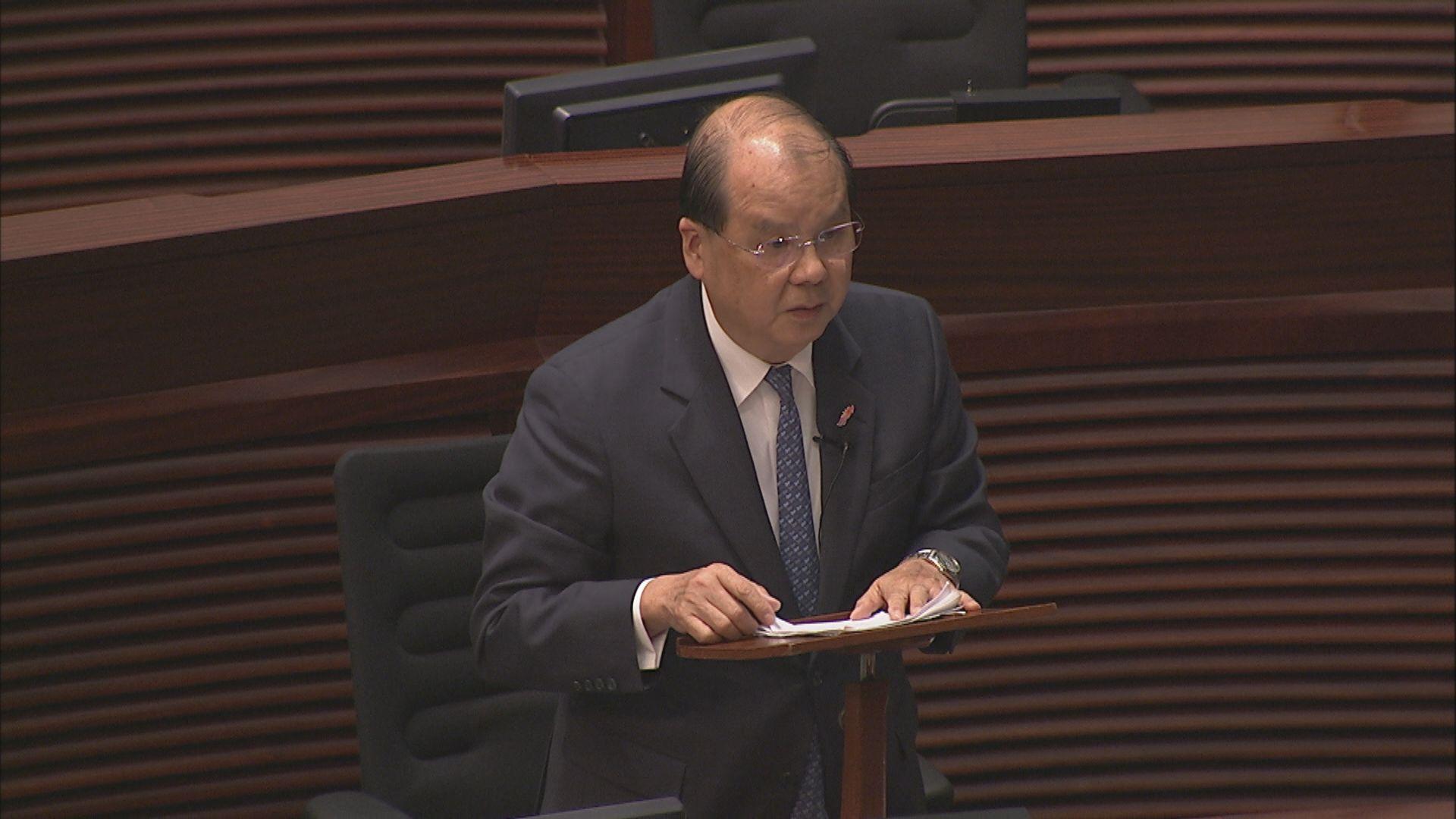 張建宗:恢復社會秩序是當前政府的首要工作
