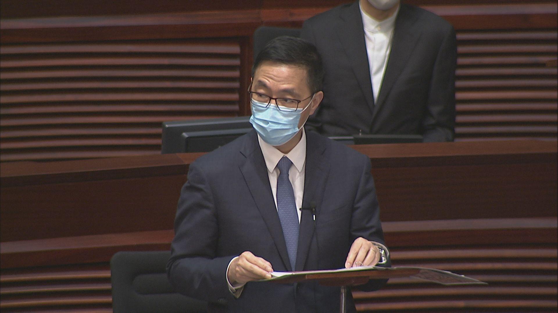 立會通過施政報告致謝議案 陳沛然及鄭松泰投反對票