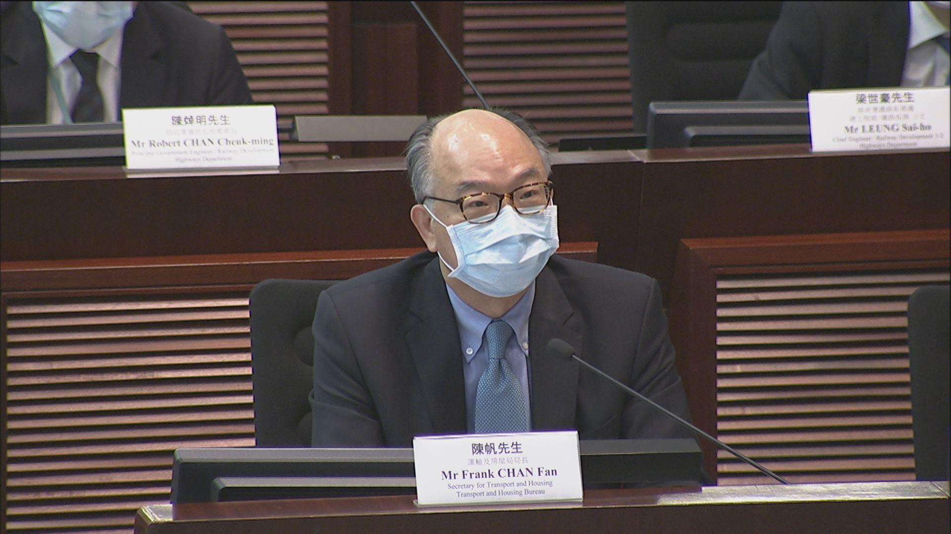 陳帆 : 政府堅持不支付沙中綫額外項目管理費