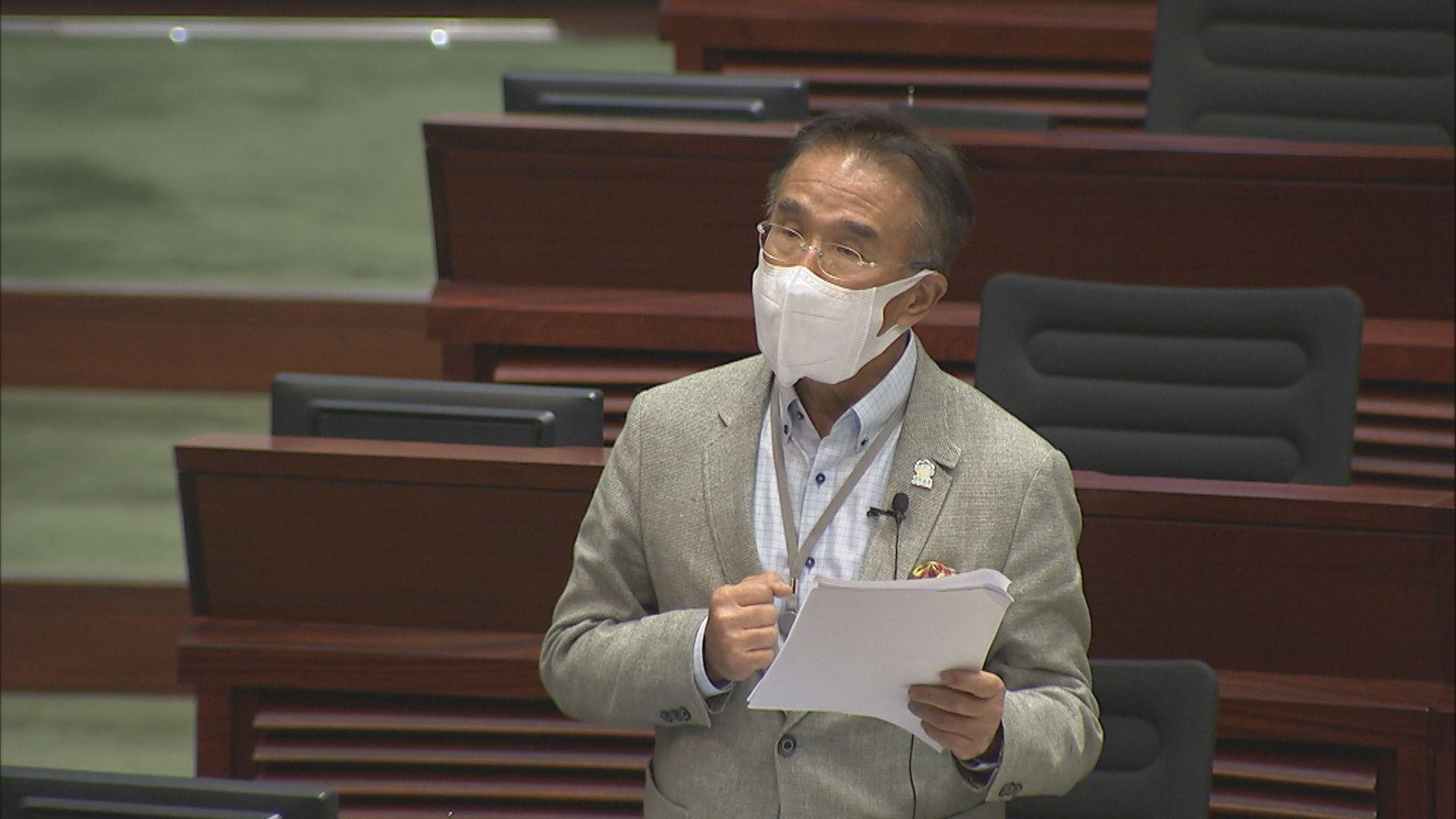 規管劏房租務條例立會恢復二讀 田北辰指投棄權票