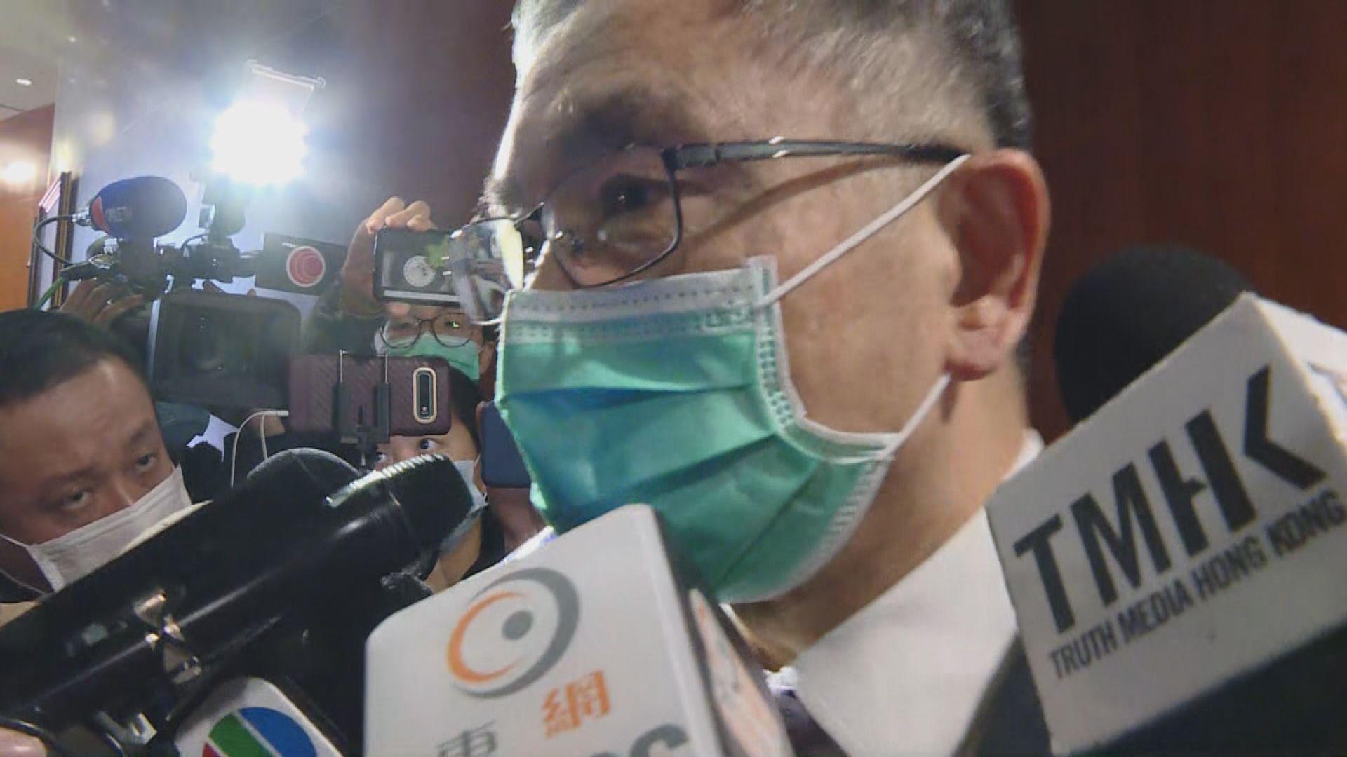 劉怡翔在立法會答非所問 他否認睡着
