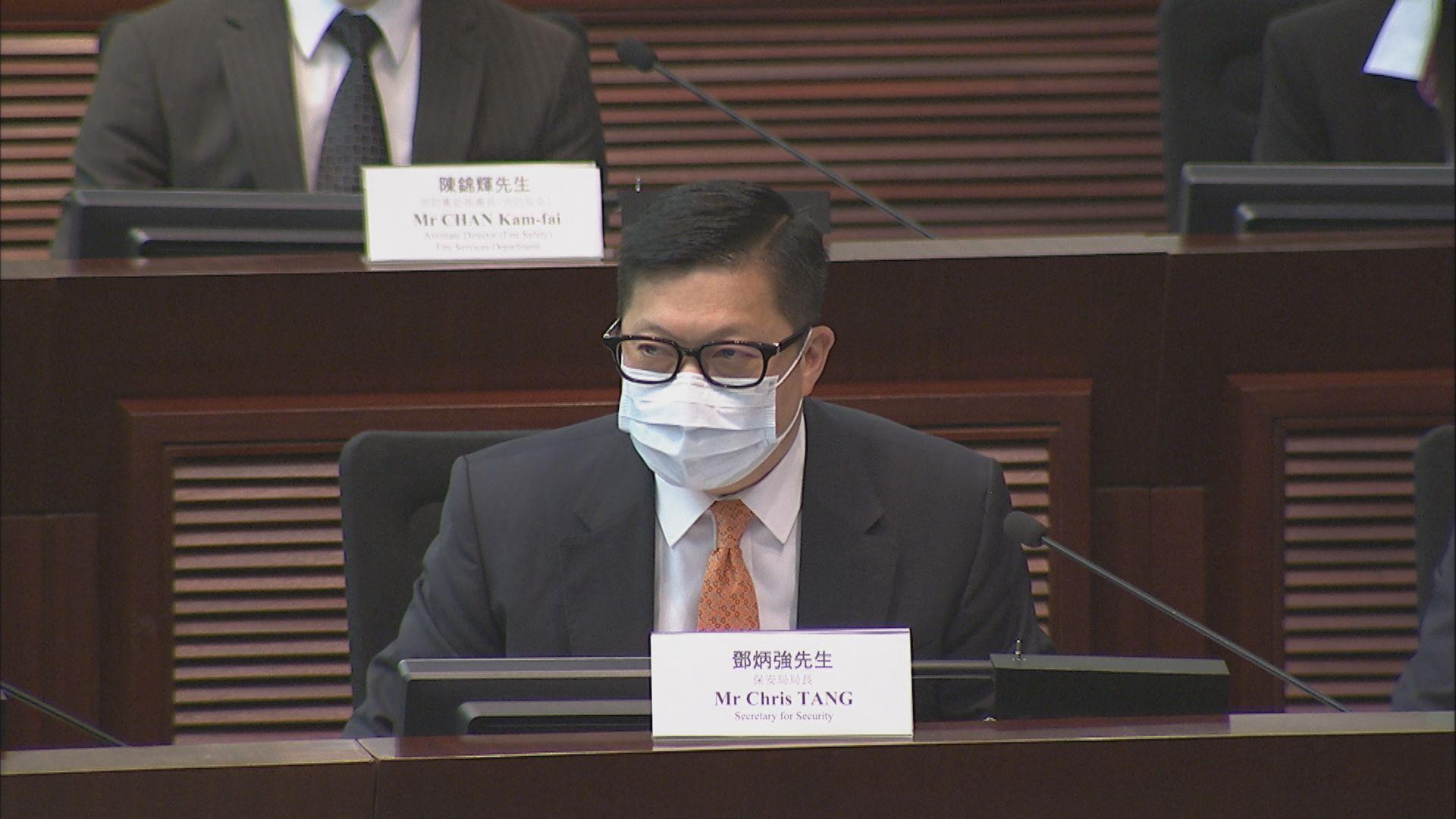 鄧炳強:有法律學者企圖淡化七一襲警 非常不道德