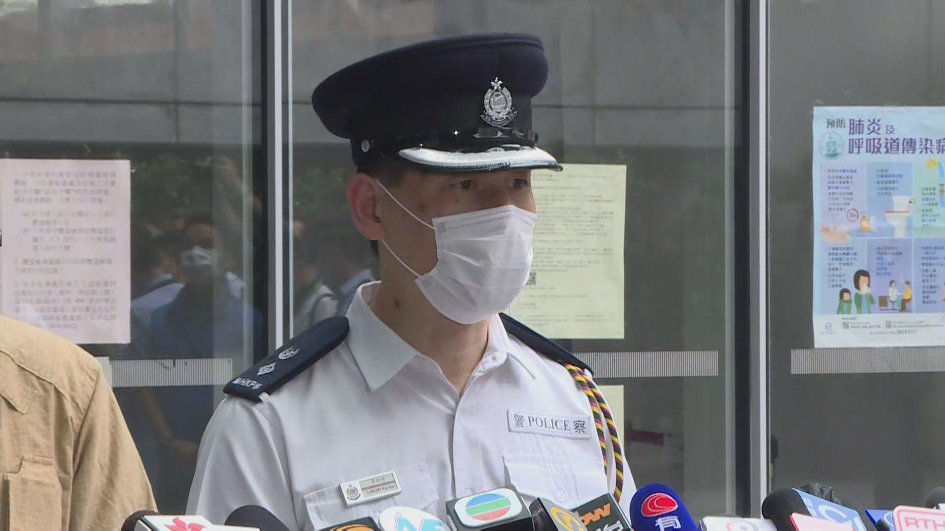 警方調查許智峯投擲物質 不排除日後有拘捕行動