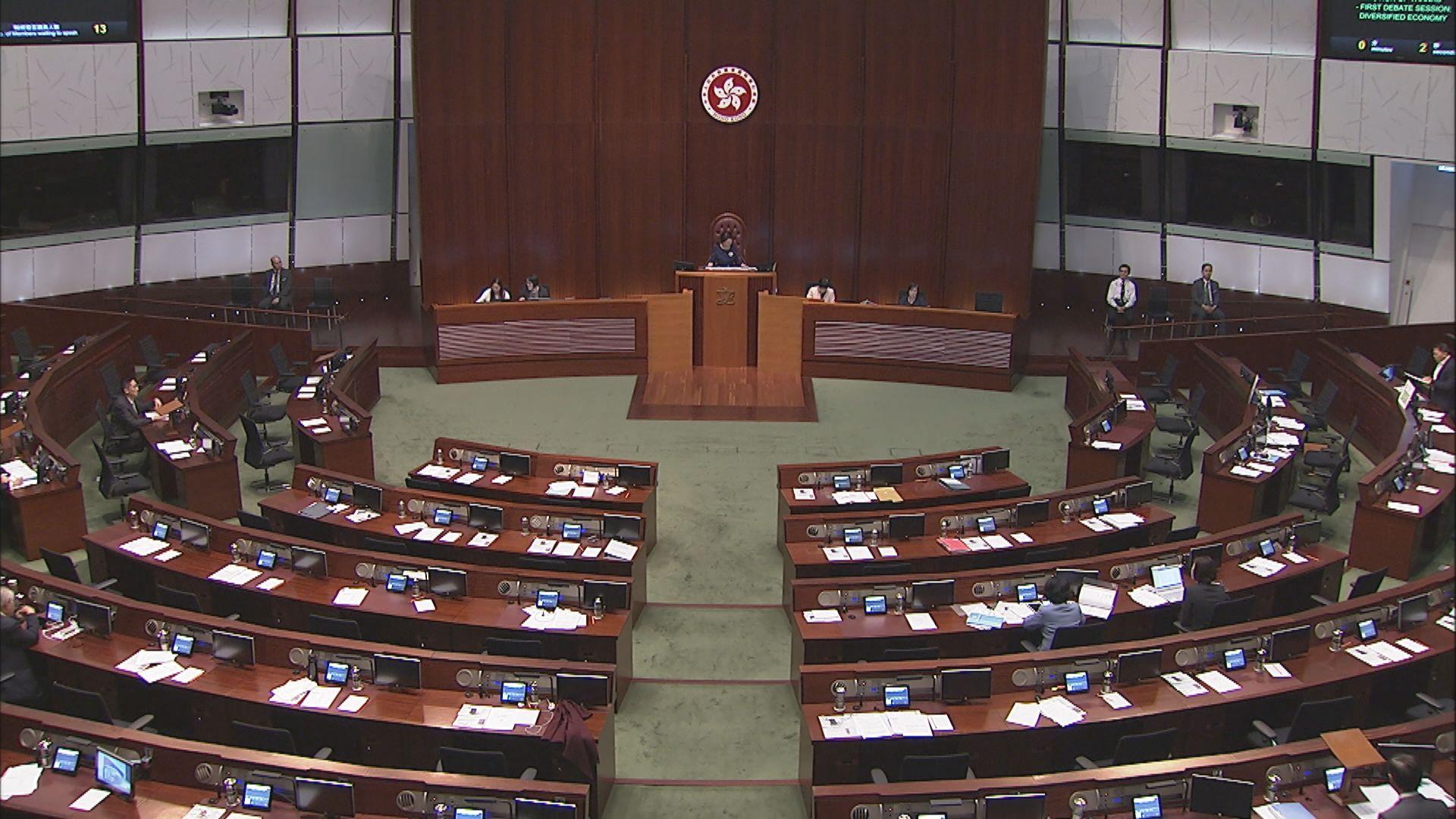 立法會將分開五個環節審議施政報告致謝議案