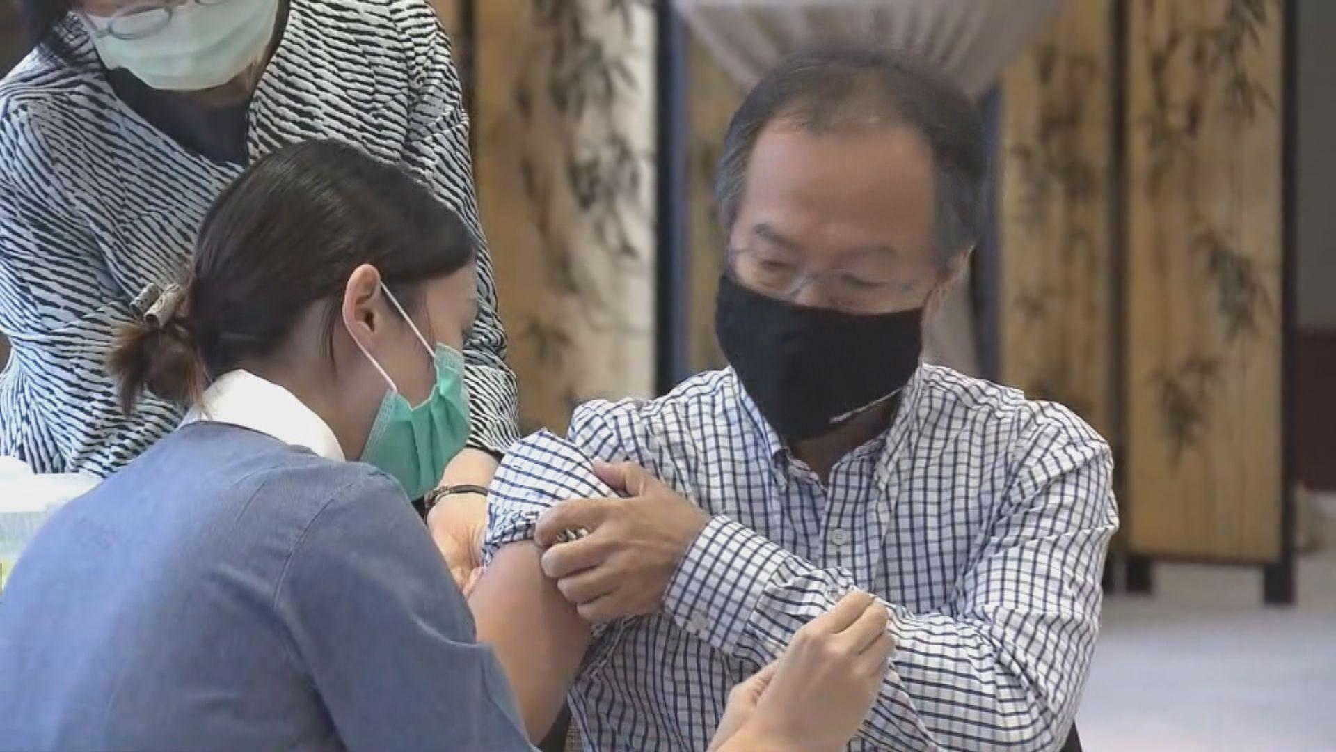 立法會議員接種流感疫苗