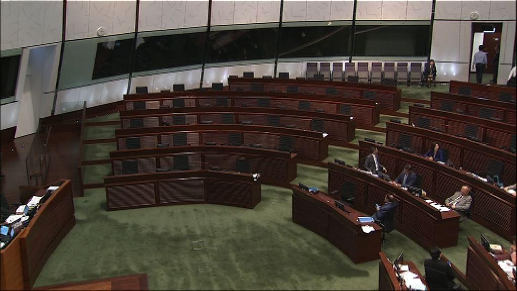立法會會議流會 民主派多次提出點算人數