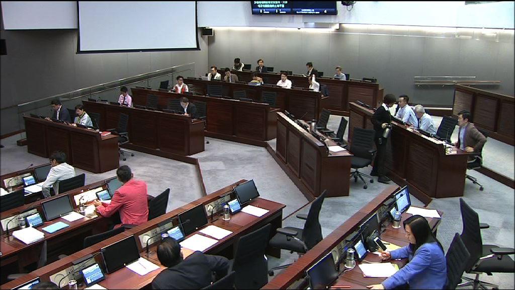 民主派就財委會及其下小組會議程序提修訂