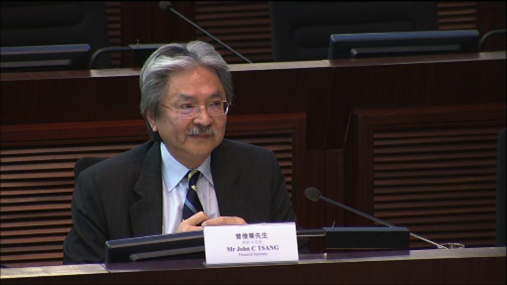 曾俊華拒回應宣誓案四立會議員發言 會議腰斬