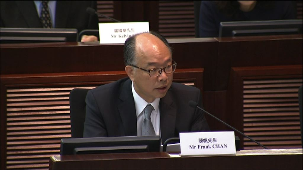陳帆:已責成有關部門檢討八號幹線建造工程合約