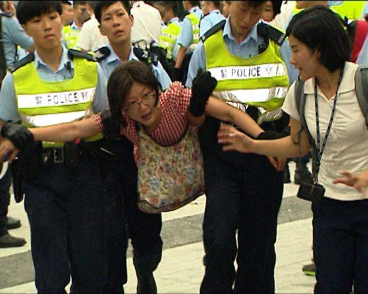 立法會衝突警方先後拘21人