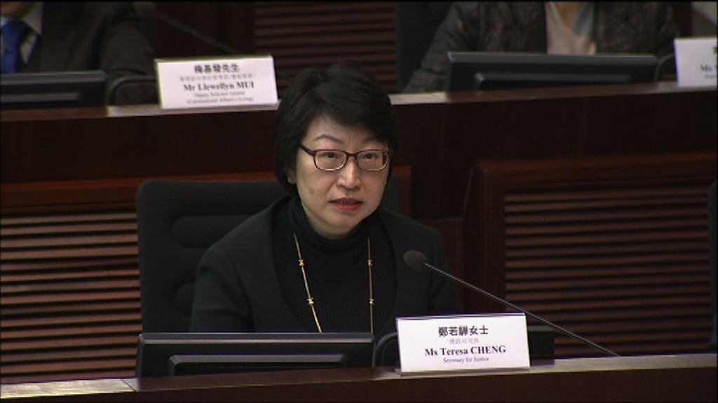 鄭若驊:隨時在港實施內地法律無根據