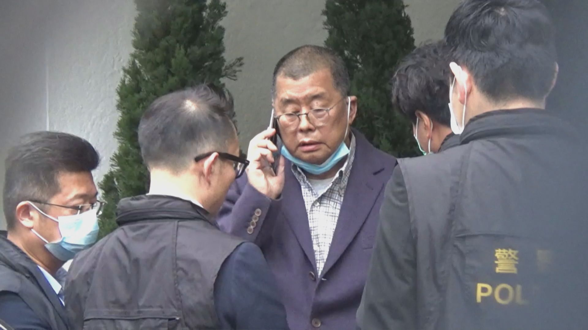 黎智英、李卓人及楊森被捕 警方曾稱宗教遊行不獲豁免