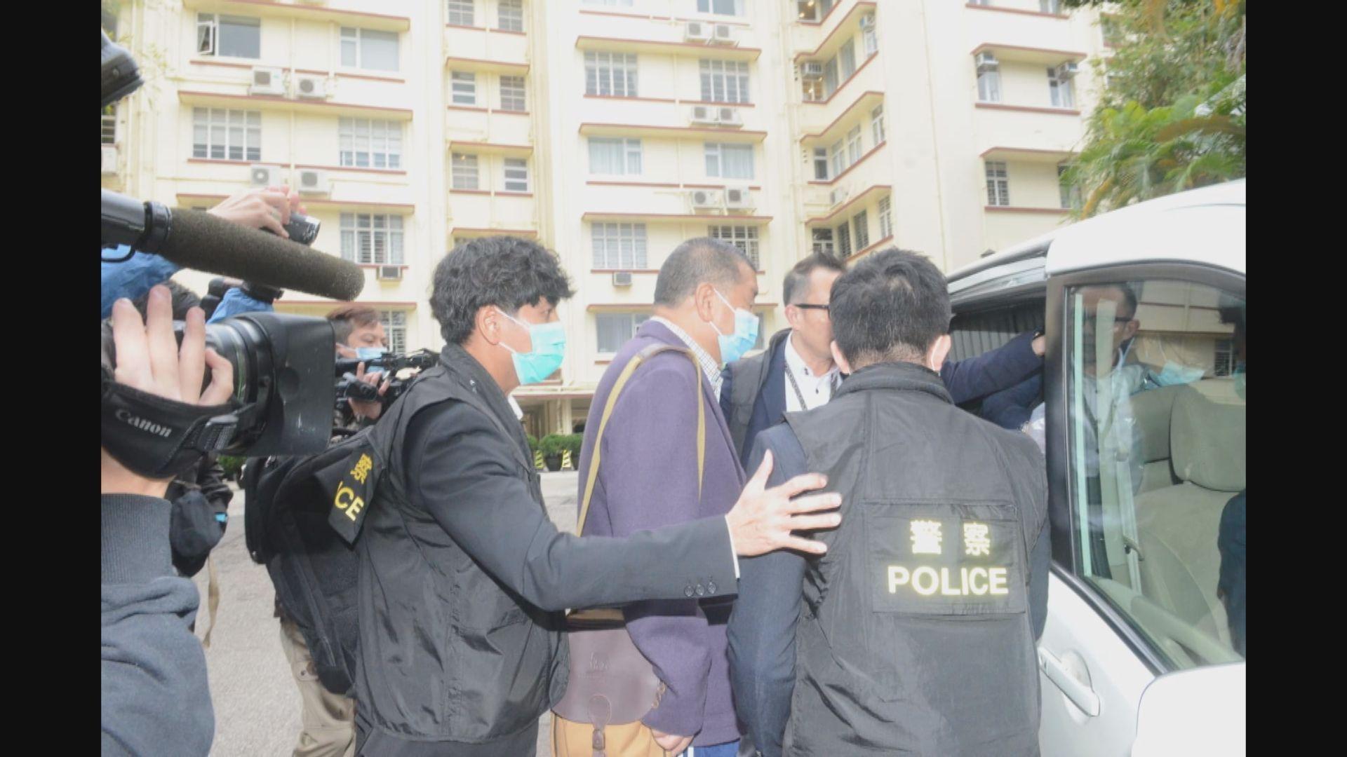 黎智英涉恐嚇記者及831非法集結被捕