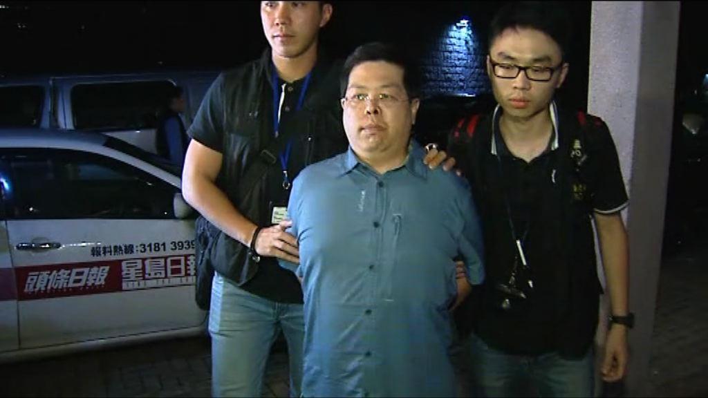 林子健涉誤導警務人員被捕