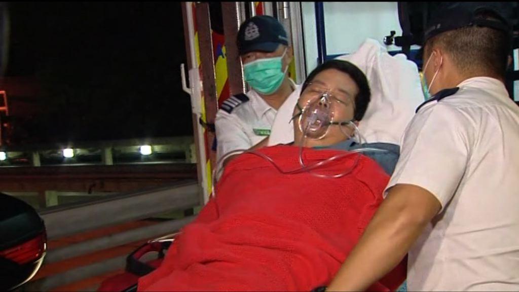 林子健報稱不適送院 治理後轉送內科病房