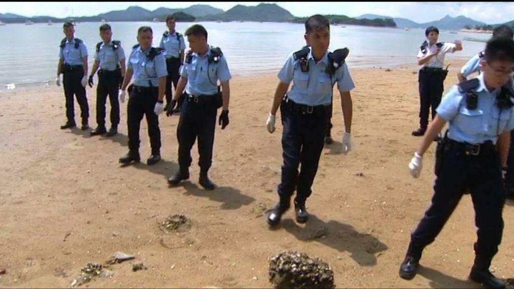 林子健涉虛報案 警方到西貢海灘搜證