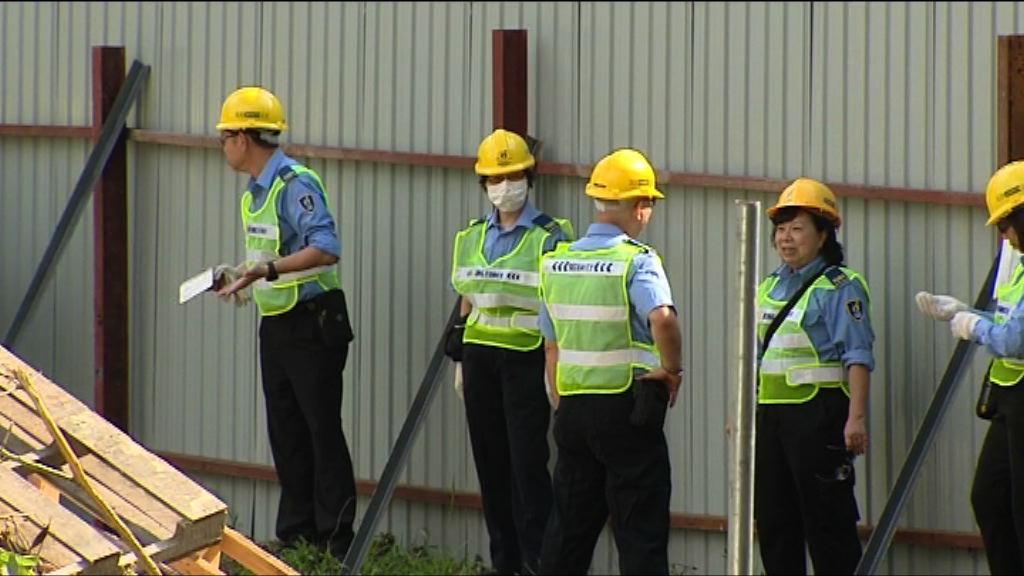 工人及保安駐守馬屎埔 未有行動