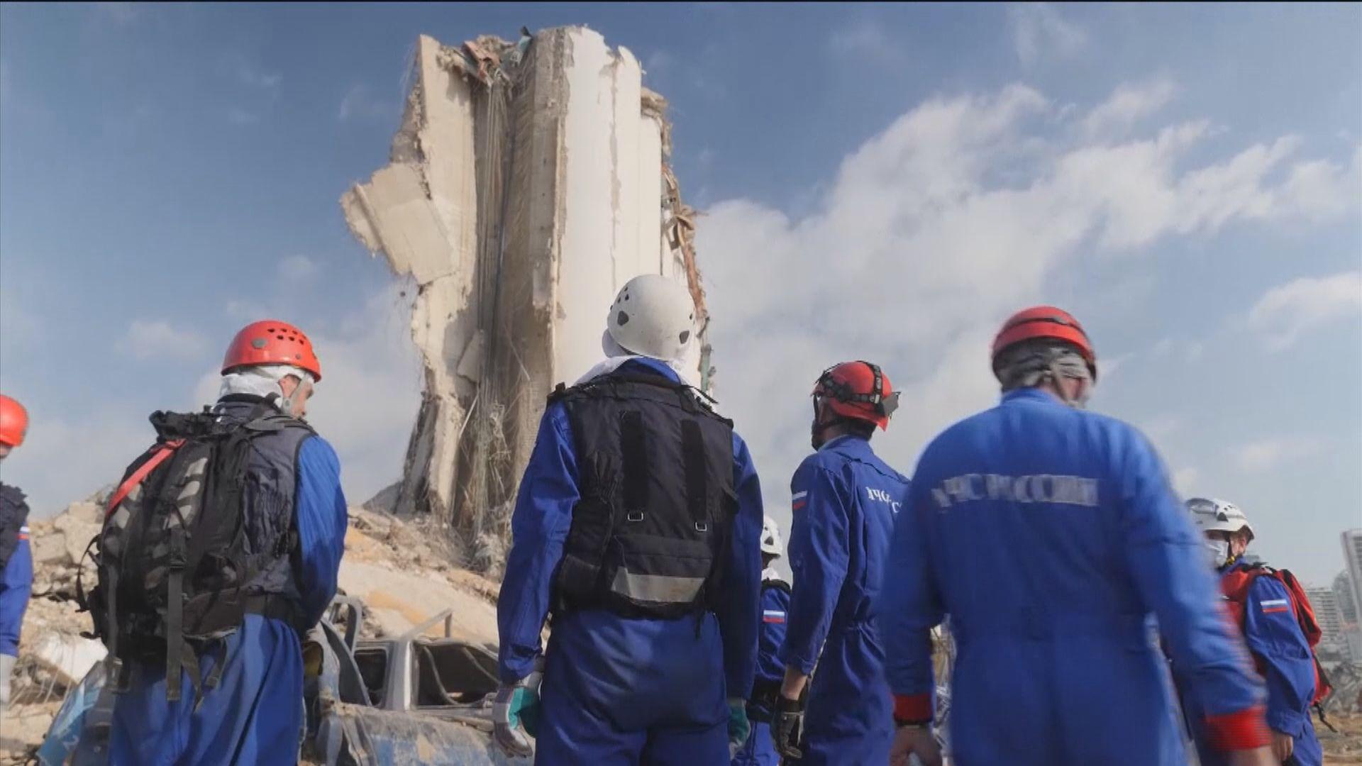 多國救援隊伍陸續抵達貝魯特協助救援