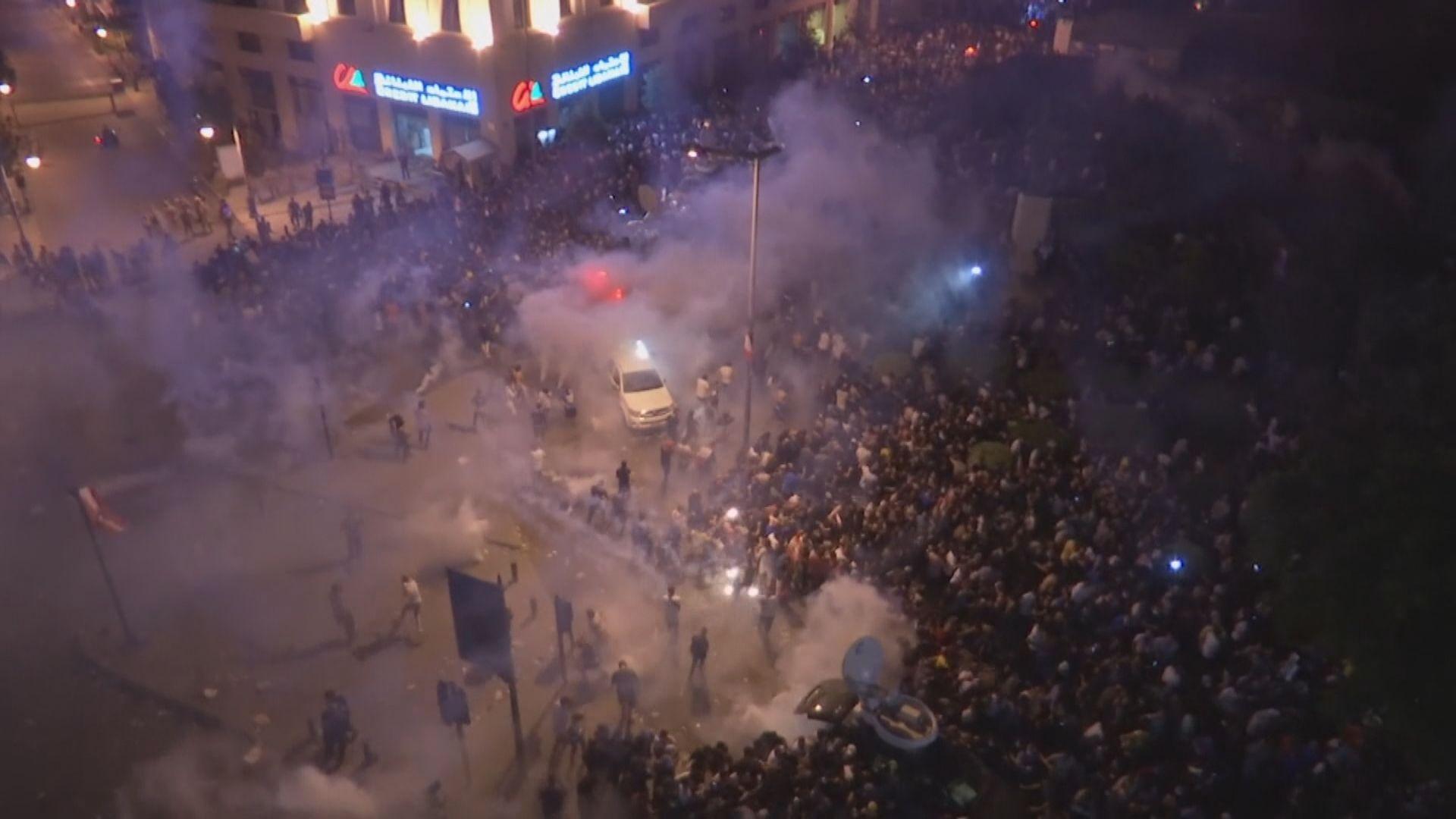 黎巴嫩反政府示威持續 最少70人被捕