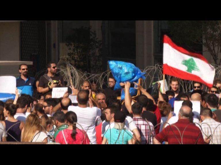 黎巴嫩貝魯特垃圾堆積引發示威