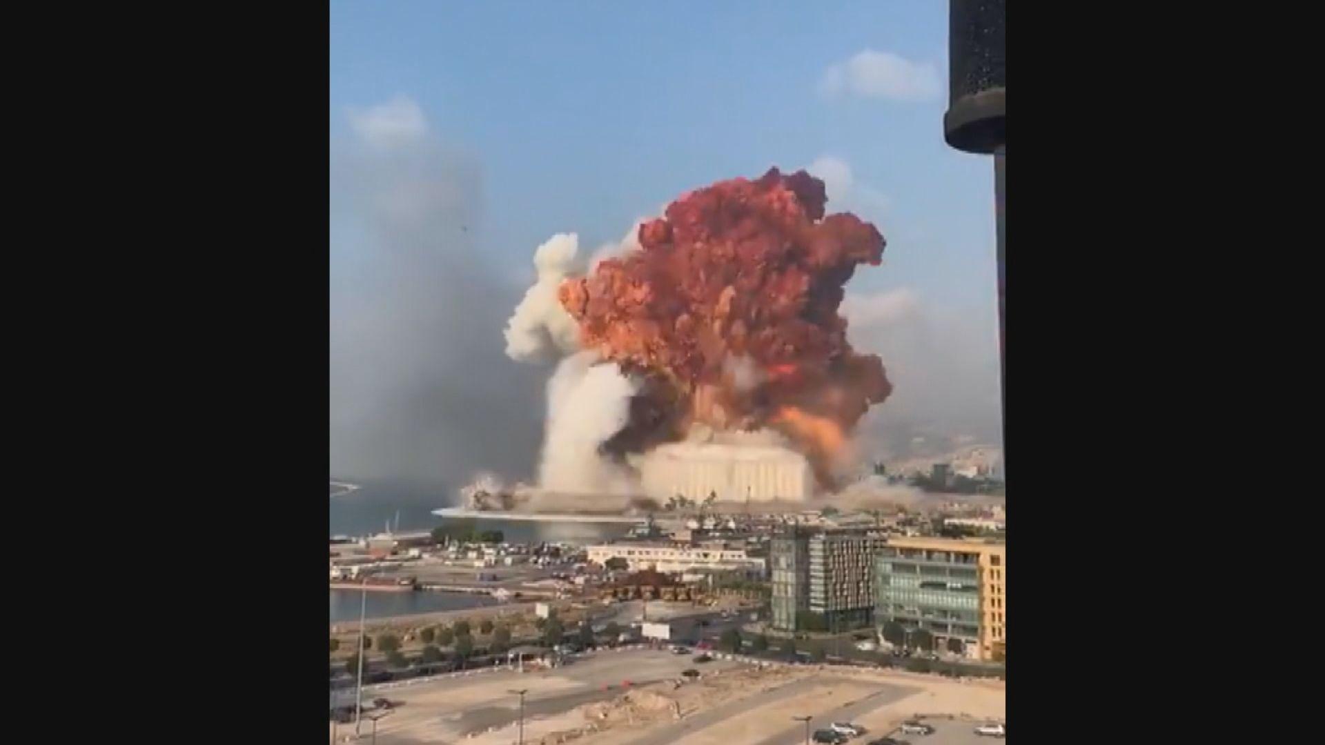 貝魯特倉庫爆炸至少70死逾三千傷