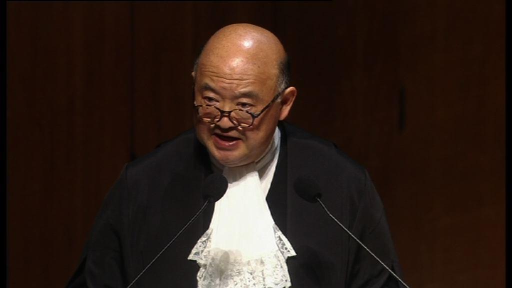 馬道立:無理批評法治對社會並無好處