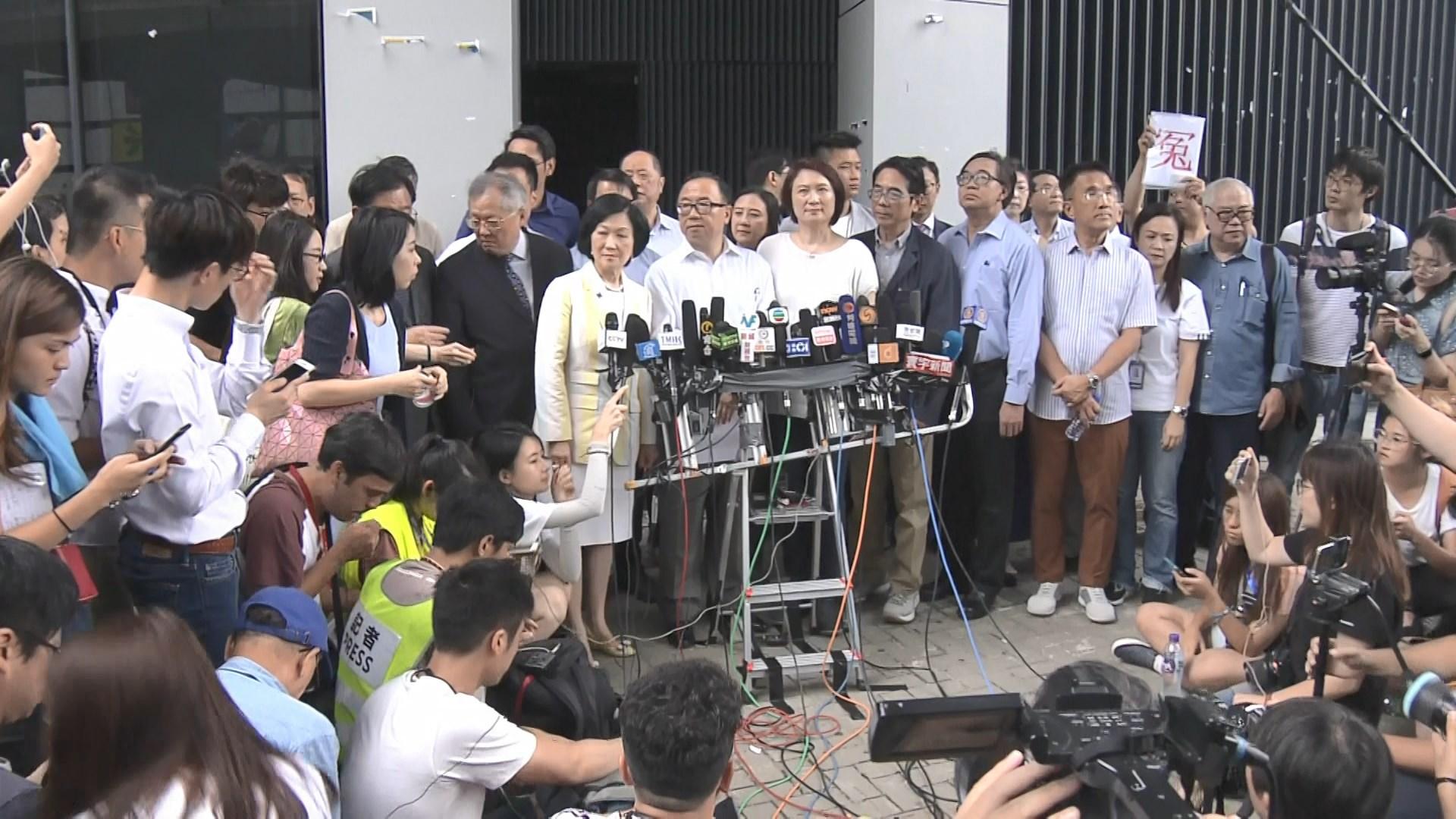 建制批泛民縱容暴力 泛民歸咎林鄭不正視問題