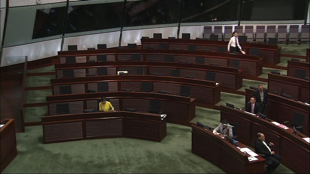 民主派點人數抗議政府抽調議程