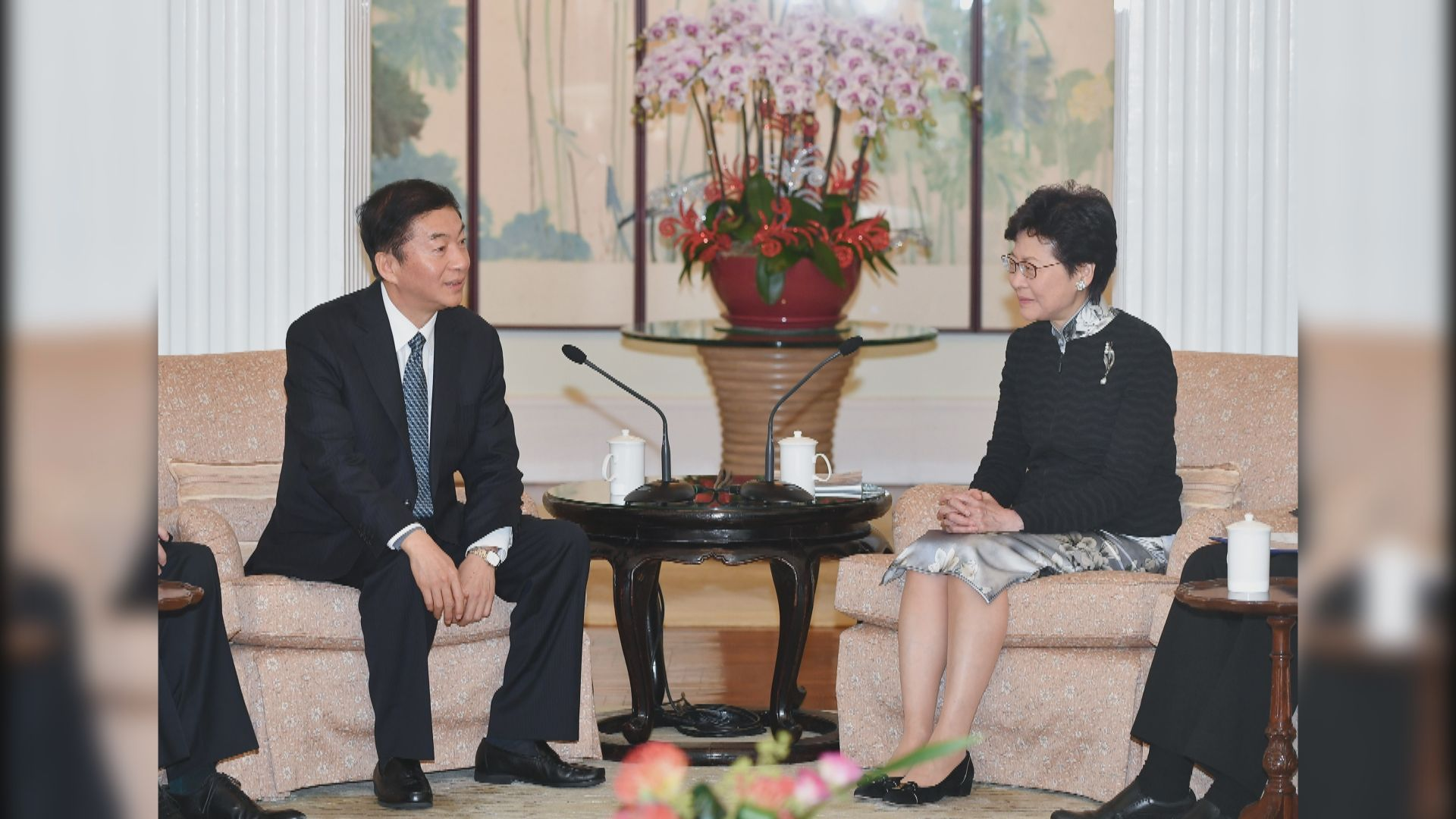 林鄭月娥歡迎駱惠寧出任中聯辦主任