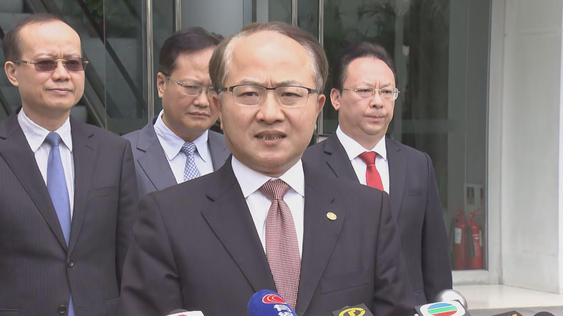 王志民:連串暴力行為傷害全中國人民感情
