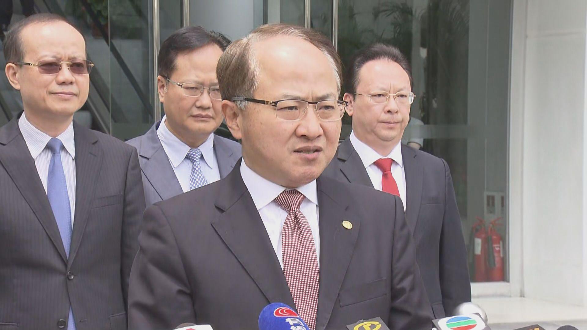 王志民:相信特區政府會依法嚴懲示威者