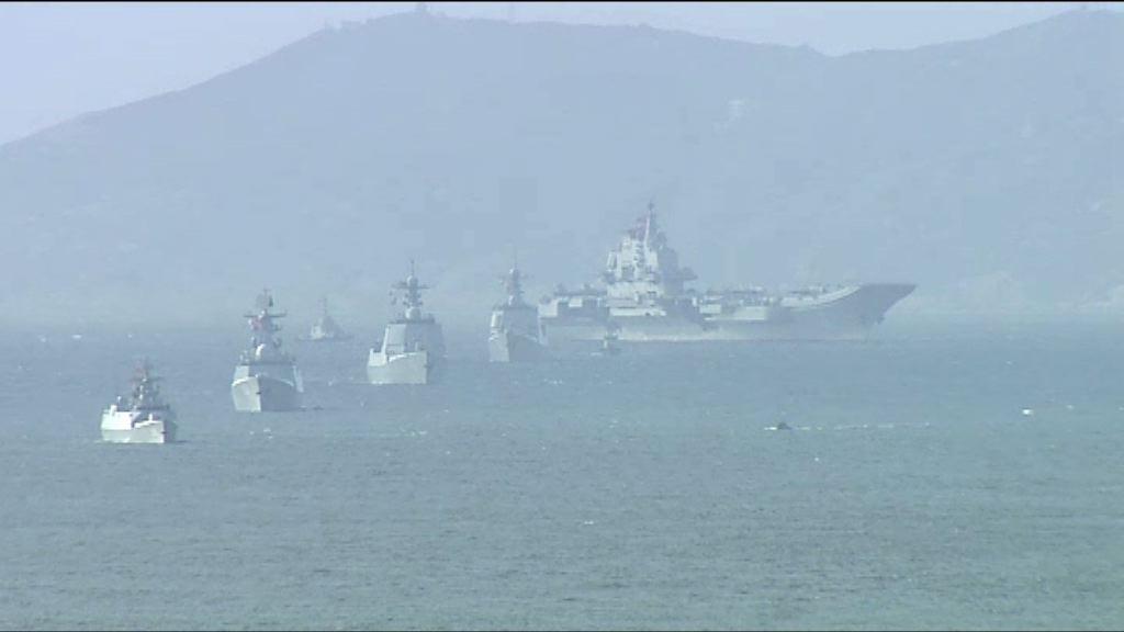 中國首艘航母遼寧號抵港