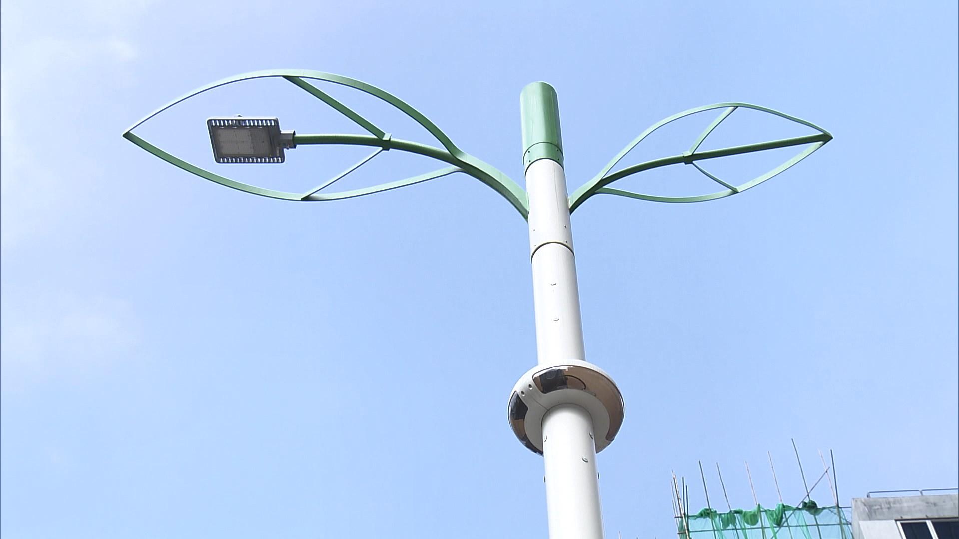 首批50支多功能智慧燈柱在觀塘區使用