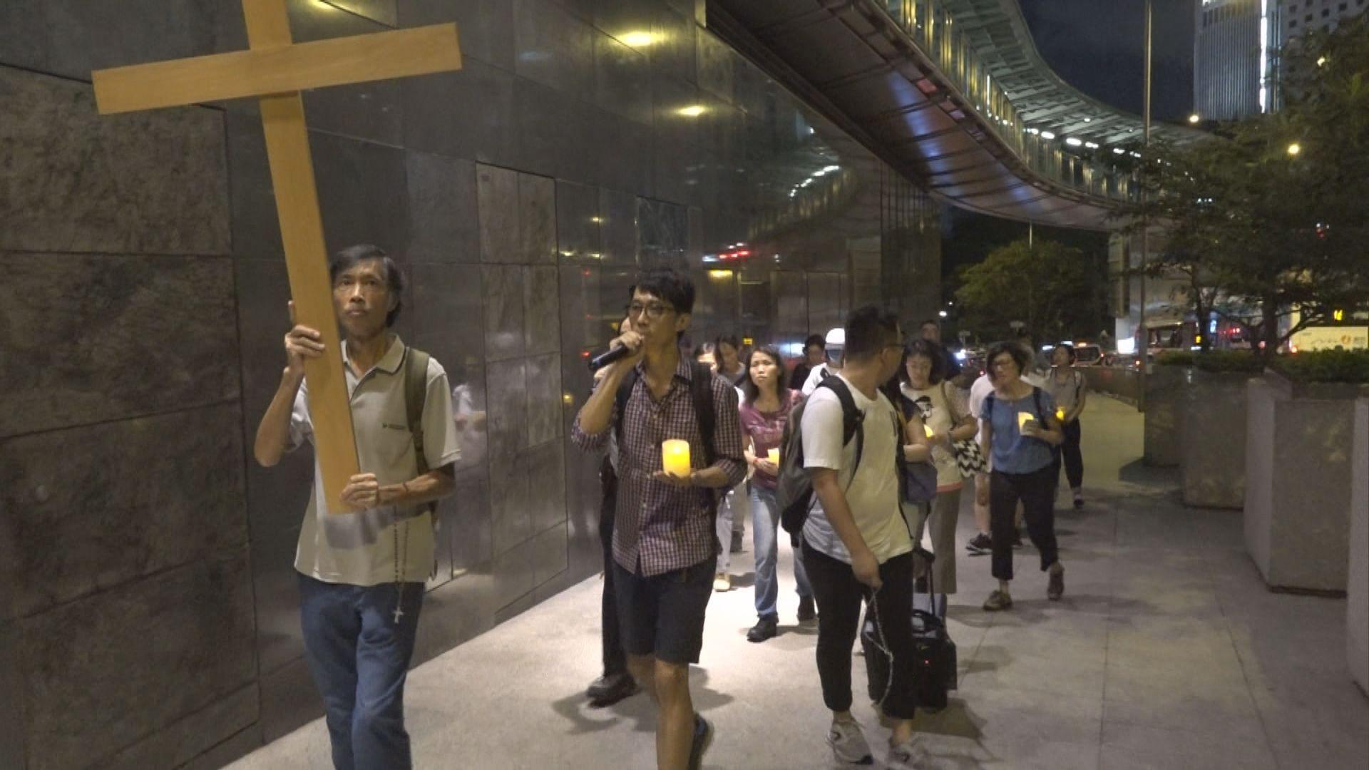 天主教徒燭光遊行促政府回應反修例訴求