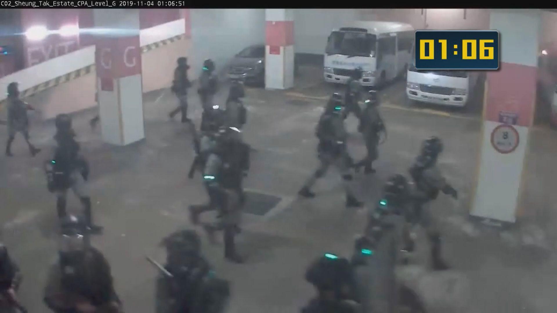領展閉路電視片段未見警察在學生墮樓前出現