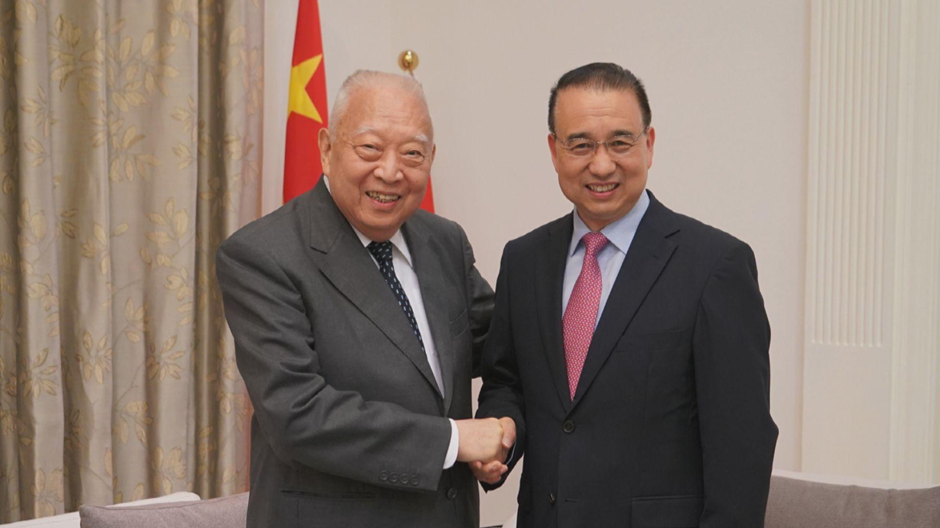 劉光源拜會董建華 對一國兩制貢獻表示敬意