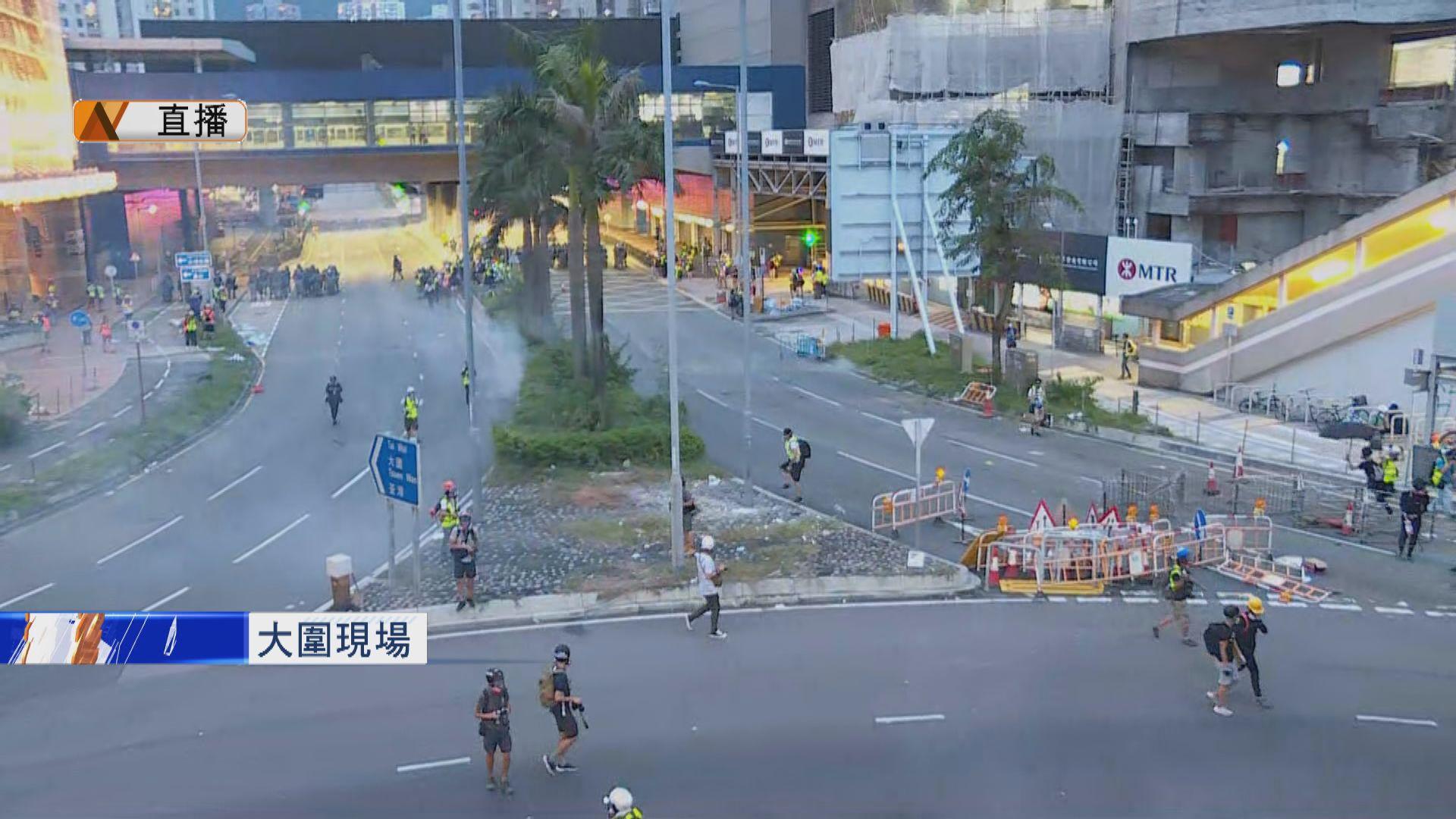 【現場報道】大埔示威者轉到大圍沙田堵路