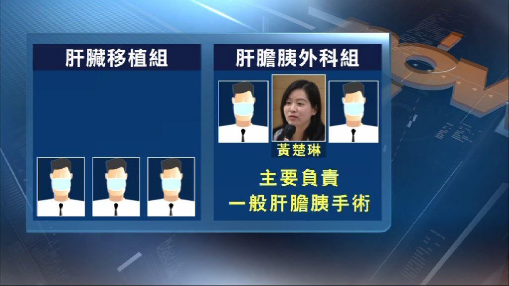 吳國際事件主刀黃楚琳調離移植組