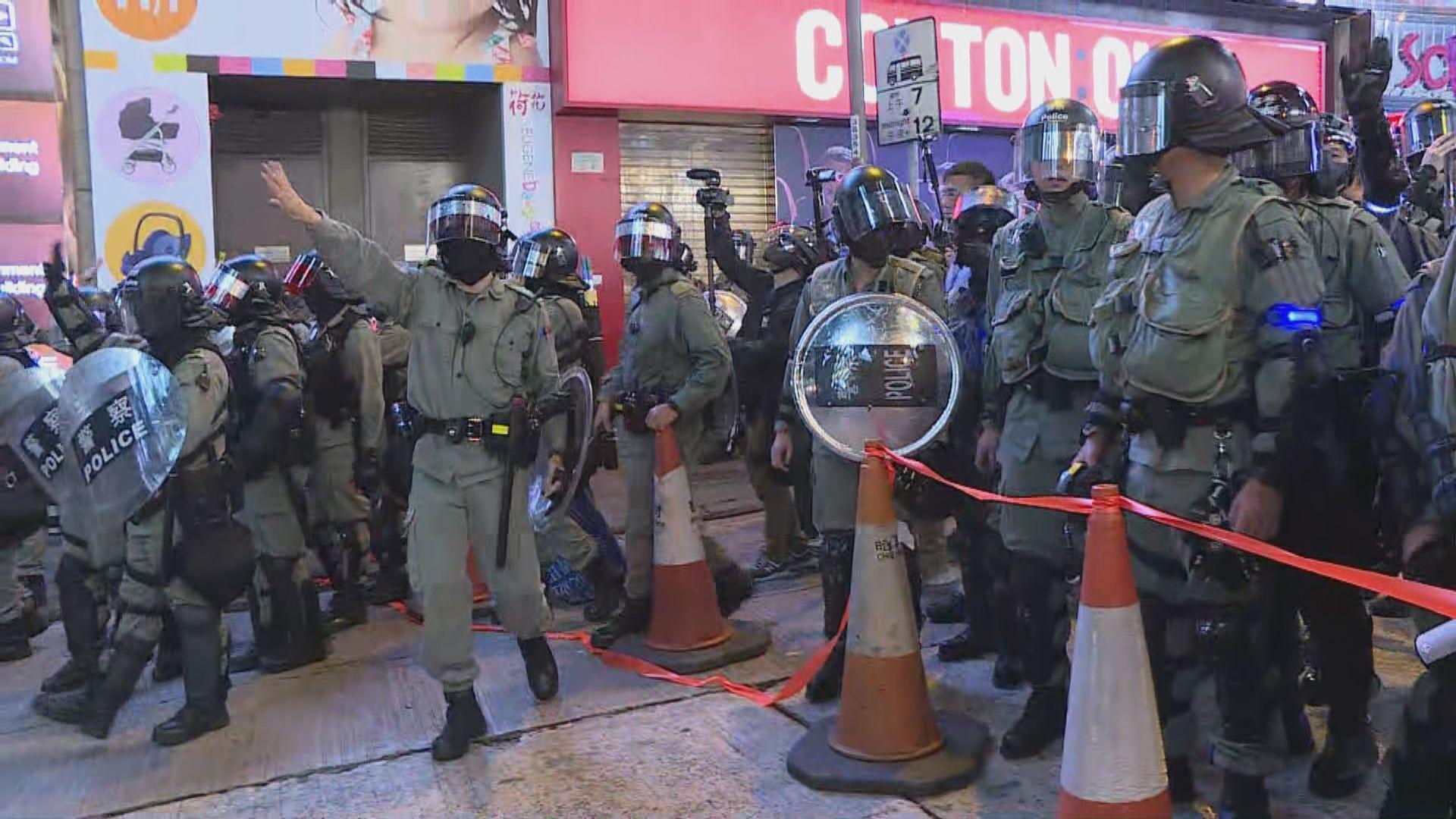 警方封閉蘭桂坊驅趕在場人士離開