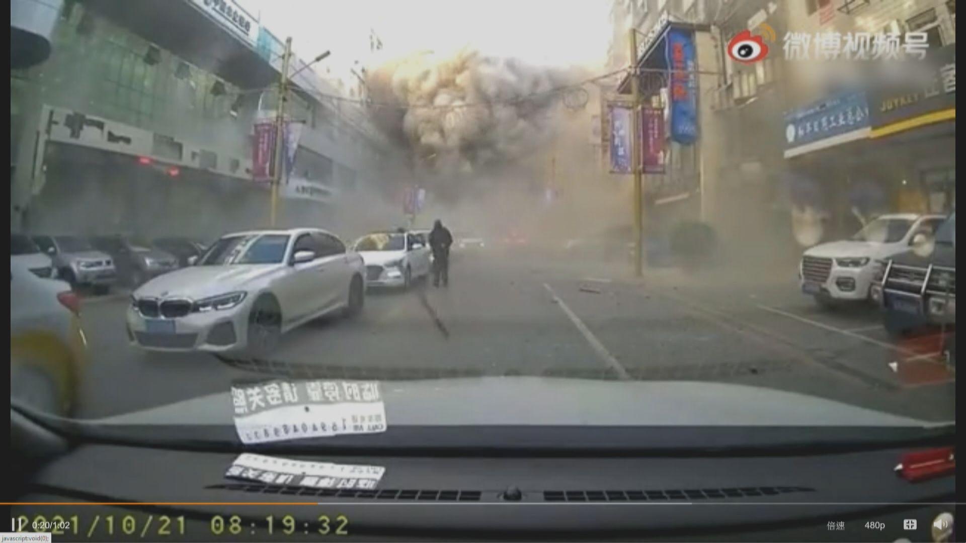 遼寧瀋陽市有飯店懷疑燃氣爆炸 多棟建築物損毀